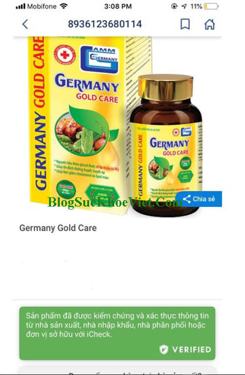 icheck germany gold care